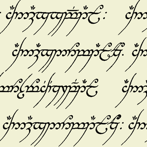 Elvish on Parchment fabric by thinlinetextiles on Spoonflower - custom fabric