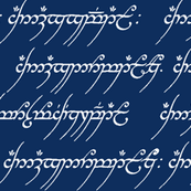 Elvish on Dark Blue