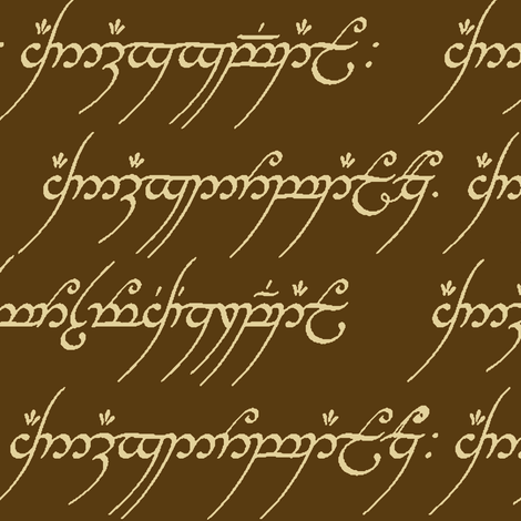 Elvish in Brown & Tan fabric by thinlinetextiles on Spoonflower - custom fabric