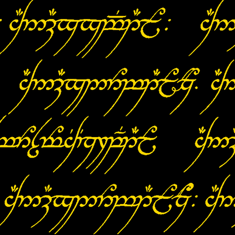 Elvish in Gold // Large fabric by thinlinetextiles on Spoonflower - custom fabric