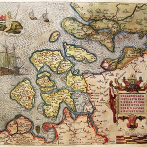 """1580 Map of Zeeland (42"""")"""