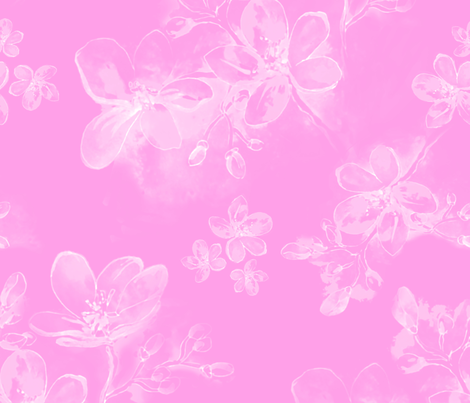 Happy pink fabric by odettel on Spoonflower - custom fabric