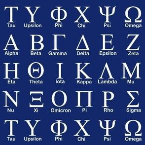 Greek Alphabet // Dark Blue