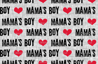(micro scale) Mama's boy - valentines day fabric