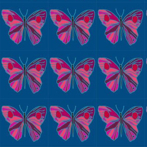 bright butterfly repeat