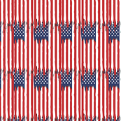 Dripping american flag