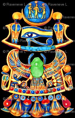 Ancient Egypt Egyptian Pharaoh Sun Cobras Snakes Goddesses