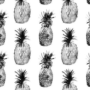 Black-and-white pineapples