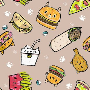 kawaii kitty burgers