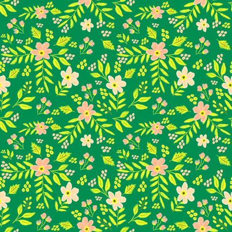 "4"" Adley Bouquet - 80s Neon - Two fabric by rebelmod on Spoonflower - custom fabric"