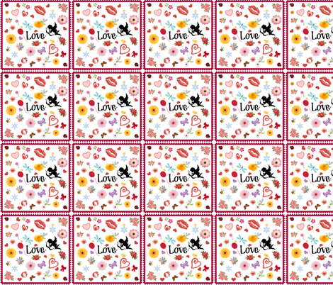 Love Is fabric by betz on Spoonflower - custom fabric