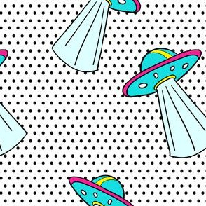 """6"""" Out Of This World Spaceship - Polka Dots"""