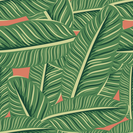 "8"" SLOTHS LOVE LEAVES / Dark Peach / Mix & Match fabric by shopcabin on Spoonflower - custom fabric"