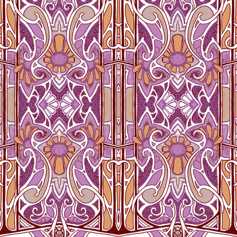 Woke Up to a Purple Morning fabric by edsel2084 on Spoonflower - custom fabric
