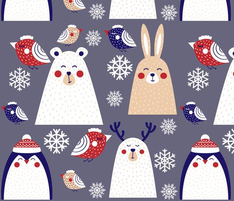 Arctic Animals fabric by nfdesigncreations on Spoonflower - custom fabric