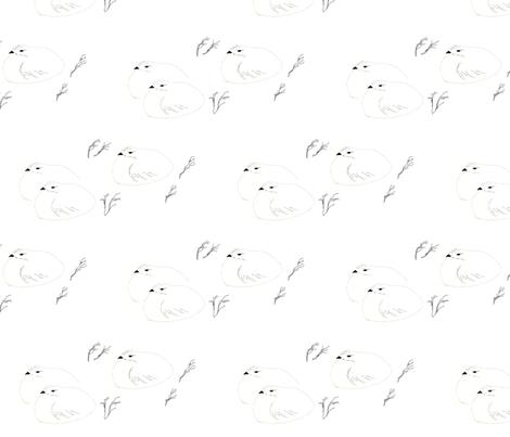 3 ptarmigans fabric by lornabee on Spoonflower - custom fabric