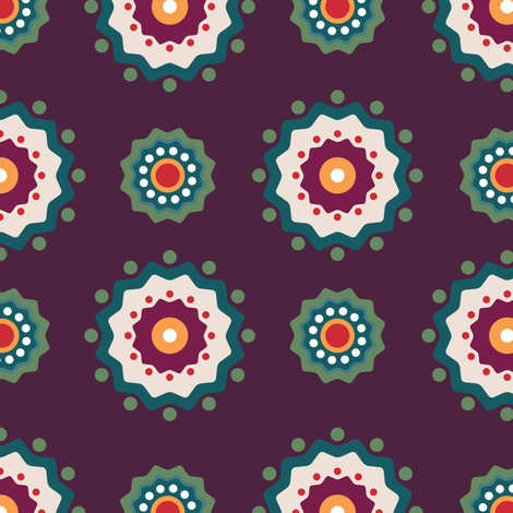 Hygge-Floral-2 fabric by linziloop on Spoonflower - custom fabric