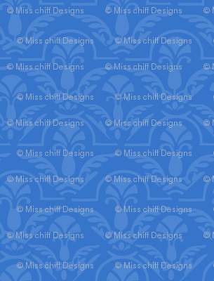 Blue Damask Small