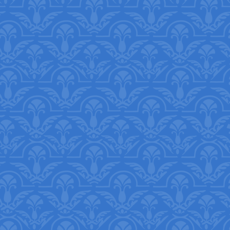 Blue Damask Small fabric by misschiffdesigns on Spoonflower - custom fabric