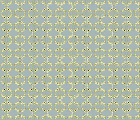 Victorian Damask in Sky Blue  fabric by blink_on_my_nose_ on Spoonflower - custom fabric