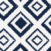 Mod Ikat Navy Diamonds