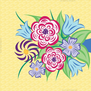 Summer Bouquet Tea Towel