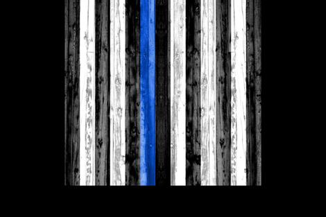 2 yard minky panel - Thin Blue Line  fabric by littlearrowdesign on Spoonflower - custom fabric