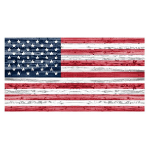 "Fat Quarter Panel for 42"" width fabric - American flag"