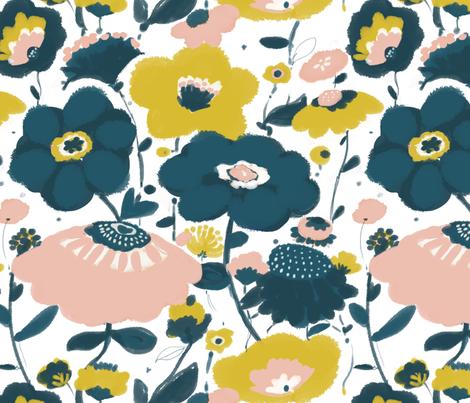 Harlow's  garden fabric by alison_janssen on Spoonflower - custom fabric