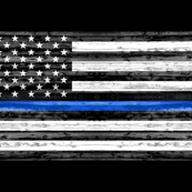 "54"" minky yard panel - thin blue line"