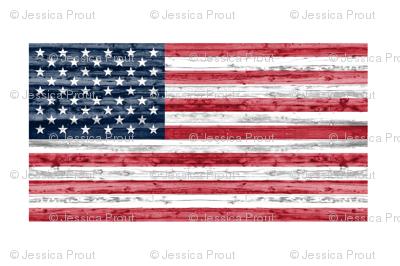 "54"" minky yard panel - American flag"