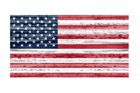 "54"" minky yard panel - American flag fabric by littlearrowdesign on Spoonflower - custom fabric"