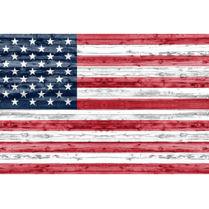 "54"" minky yard panel - American flag"