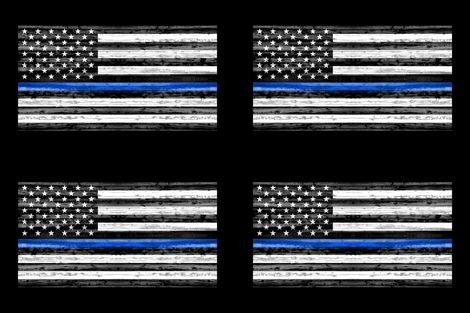 Minky Fat Quarter panel - thin blue line fabric by littlearrowdesign on Spoonflower - custom fabric