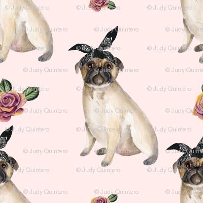 """4"""" Pug Life - Pink"""