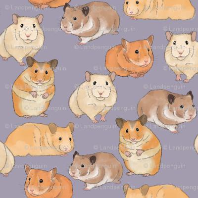 Hamsters on Purple