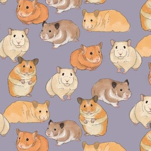 Hamsters on Purple