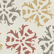 Textured Abstract Floral || Gold gray sienna red on cream || large scale home decor wall paper wallpaper _ Miss Chiff Designs
