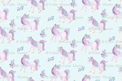 Watercolour Unicorns 1.25Inch