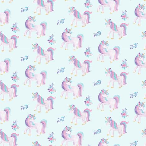 Watercolour Unicorns 1.25Inch fabric by snugglyjacks on Spoonflower - custom fabric