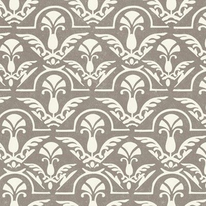 ONE Neutral Cream Damask Taupe Gray Light Texture Home Decor Wall Paper wallpaper