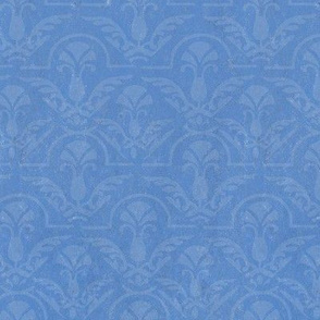 Texture Blue on blue damask || Home decor  large scale