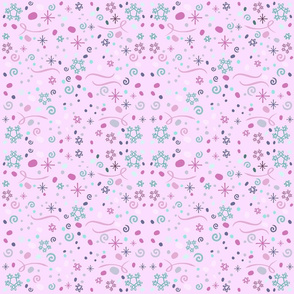 Pink snowy day // winter giftwrap xmas holiday christmas fabric