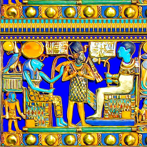 ancient egypt egyptian pharaoh sun cobras snakes gods goddesses king falcons horus lions lionesses hieroglyphics gold lapis lazuli