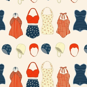 Vintage swimming outfits