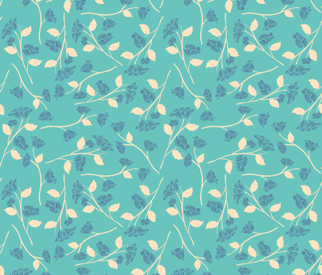 Be Mine - Blue fabric by scarlette_soleil on Spoonflower - custom fabric
