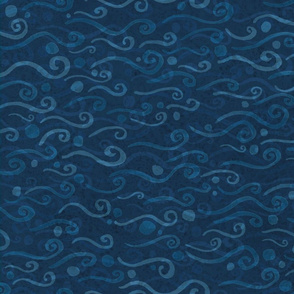 Swirls - Blue