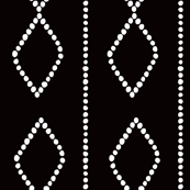 Mudcloth Dotty Diamonds in Black + White