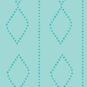 Mudcloth Dotty Diamonds in Aqua + Teal