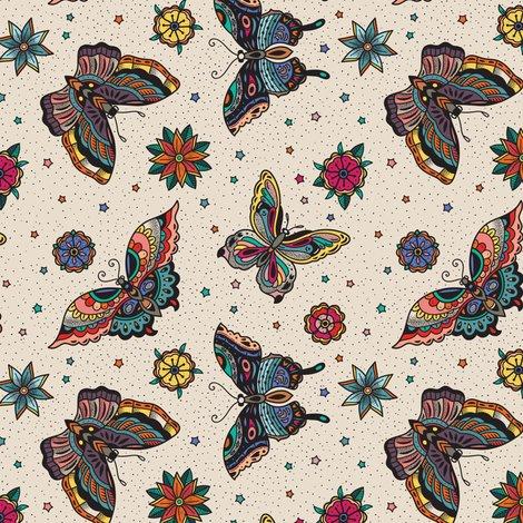 7755da51db462 Oldschool butterfly tattoo wallpaper - penguinhouse - Spoonflower
